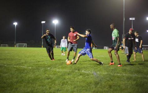 Soccer kicking again in Rec Center
