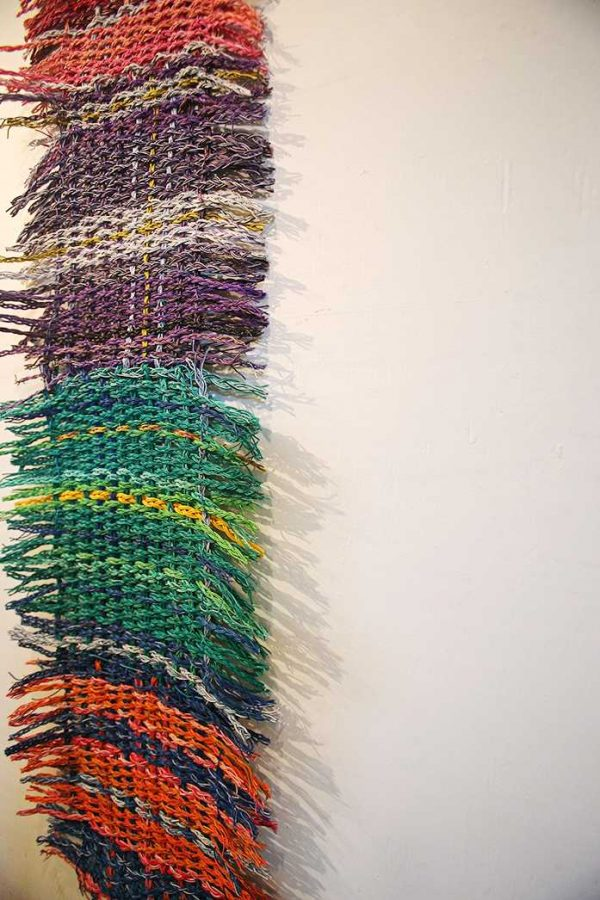 Electric+Fibers+III%2C+created+by+Leah+Burke%2C+hangs+in+Public+Space+One+during+the+exhibition+of+%27Maintenance+Mode%27+on+Wednesday%2C+Jan.+20%2C+2016.+This+exhibition+examines+the+importance+of+labor+on+artistic+expression.+%28The+Daily+Iowan%2FValerie+Burke%29