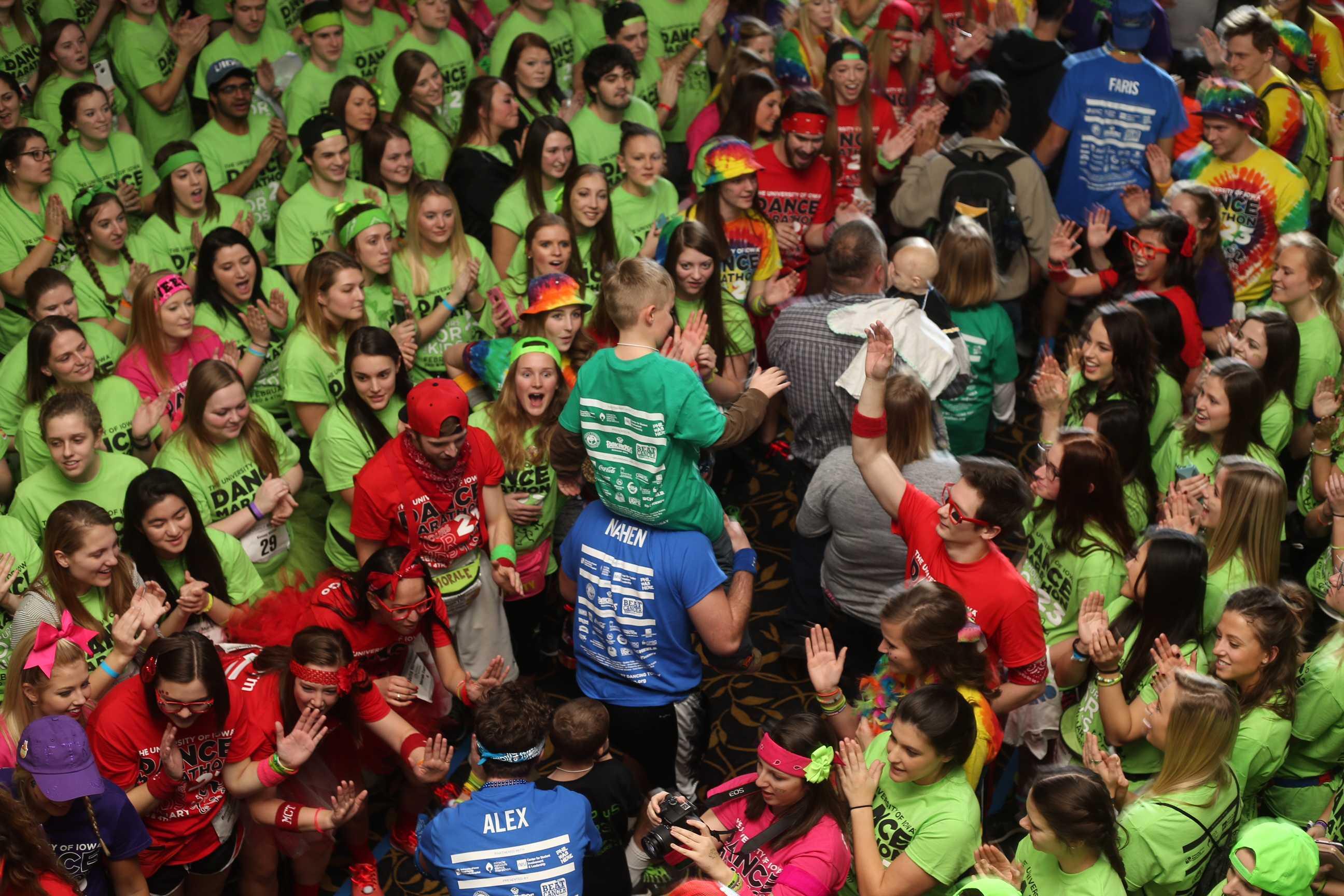 Dance Marathon 23 families make big entrance