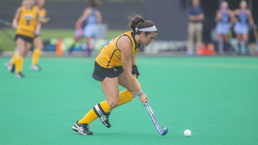 Iowa%27s+Mallory+Lefkowitz+hit+the+ball+during+a+field+hockey+game+during+the+Big+Ten%2FACC+Challenge+at+Grant+Field+in+Iowa+City+on+Sunday%2C+Aug.+27%2C+2017.+The+Hawkeyes+fell+to+the+Tarheels%2C+3-0.+%28Lily+Smith%2FThe+Daily+Iowan%29