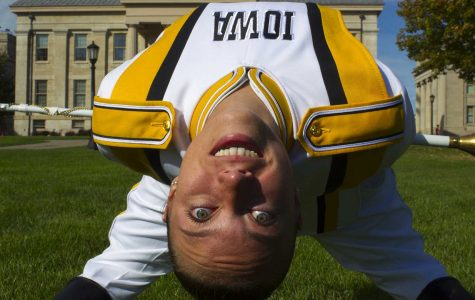 Hawkeye Marching Band introduced its first ever female drum major