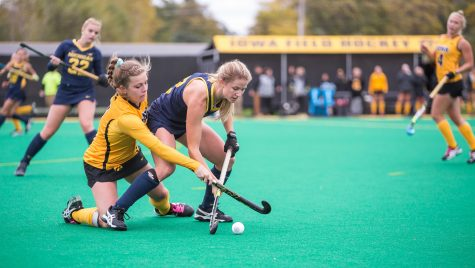 Iowa field hockey falls twice