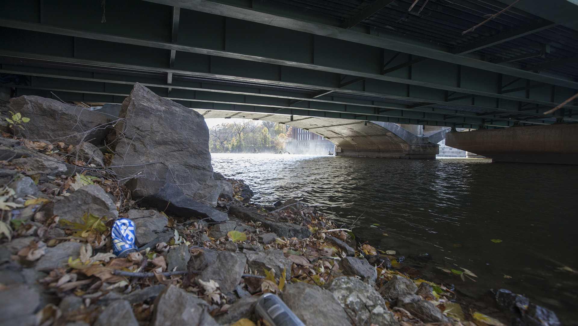 The Iowa River is seen on Thursday, Nov. 9, 2017. (Paxton Corey/The Daily Iowan)