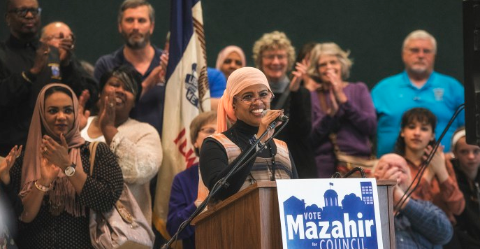 Iowa+City+resident+Mazahir+Salih%2C+president+of+the+Eastern+Iowa+Center+for+Worker+Justice%2C+announces+her+candidacy+for+city+council+at+the+Robert+A.+Lee+Recreation+Center+on+Monday%2C+March+6%2C+2017.+%28The+Daily+Iowan%2FJames+Year%29
