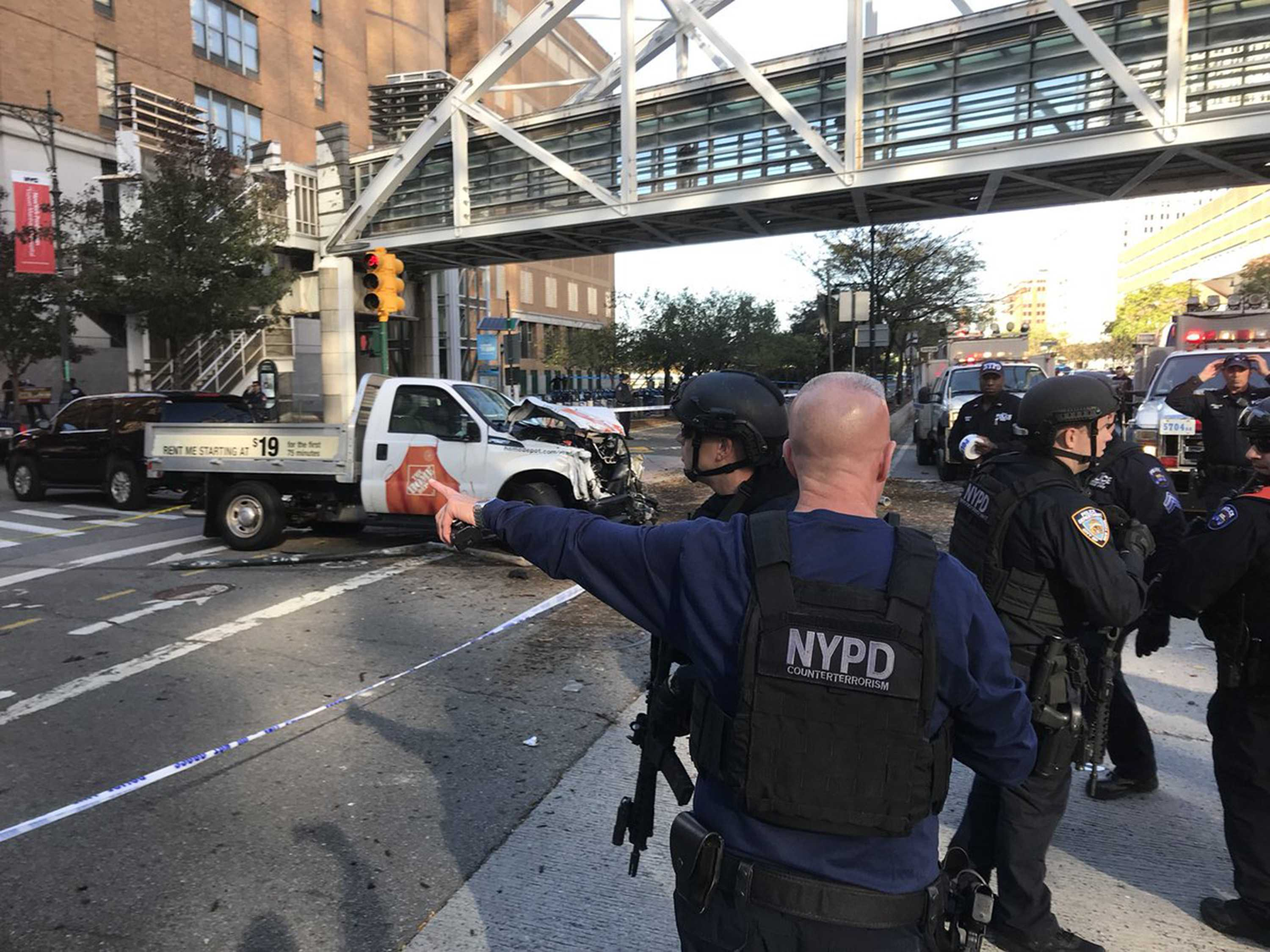 The New York Police Department reported one man was in custody after initial reports of gunfire set off a mad scramble in the downtown area. (Martin Speechley/NYPD)