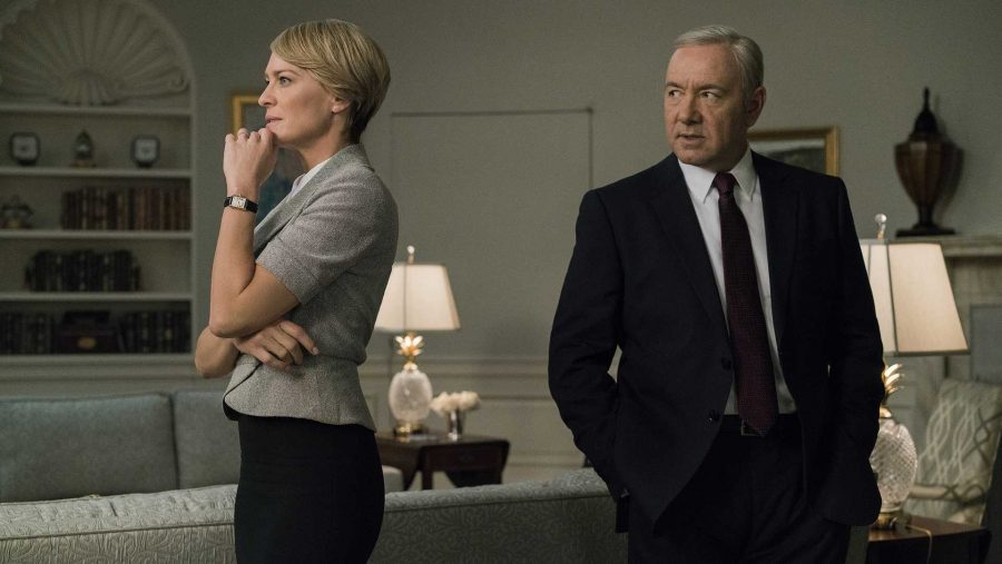 Kevin+Spacey+and+Robin+Wright+in+%22House+of+Cards%2C%22+which+will+be+ending+with+its+upcoming+sixth+season.+%28Netflix%29