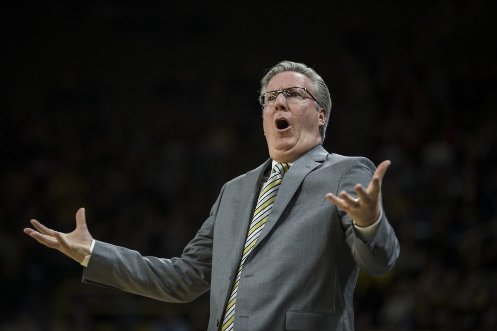 Iowa+head+coach+Fran+McCaffery+reacts+to+a+call+by+the+referee+during+the+NCAA+basketball+game+between+Iowa+and+Michigan+at+Carver-Hawkeye+Arena+on+Tuesday%2C+Jan.+2%2C+2017.+The+Hawkeyes+fell+to+the+Wolverines%2C+75-68.+%28Ben+Allan+Smith%2FThe+Daily+Iowan%29