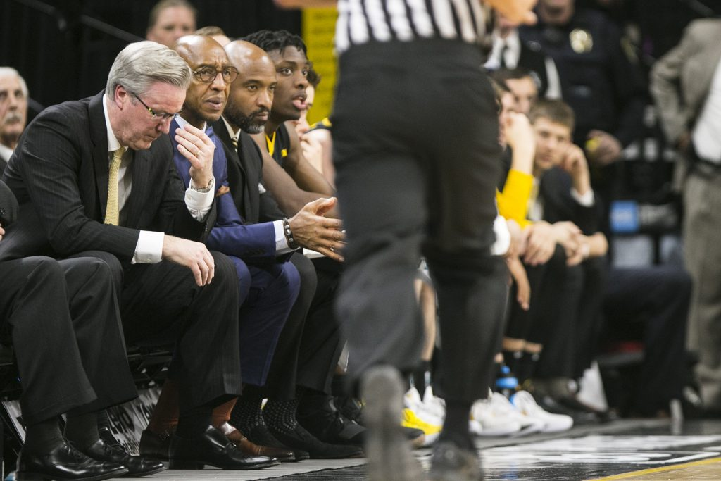 Iowa+head+coach+Fran+McCaffery+reacts+to+a+play+during+an+Iowa%2FOhio+State+men%27s+basketball+game+in+Carver-Hawkeye+Arena+on+Thursday%2C+Jan.+4%2C+2018.+The+Buckeyes+defeated+the+Hawkeyes%2C+92-81.+%28Joseph+Cress%2FThe+Daily+Iowan%29