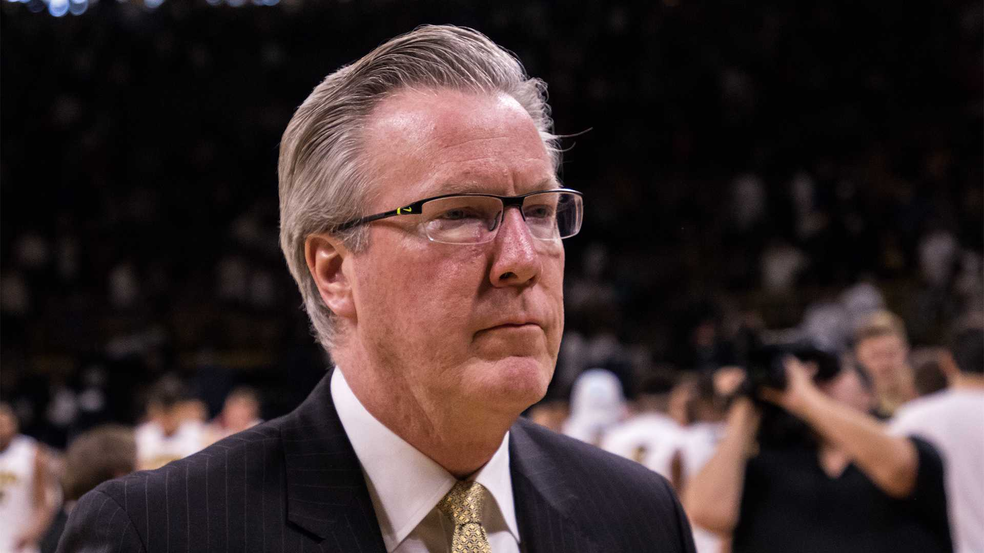 Iowa basketball head coach Fran McCaffery after a game against Purdue University on Saturday, Jan. 20, 2018. The Boilermakers defeated the Hawkeyes 87-64. (David Harmantas/The Daily Iowan)