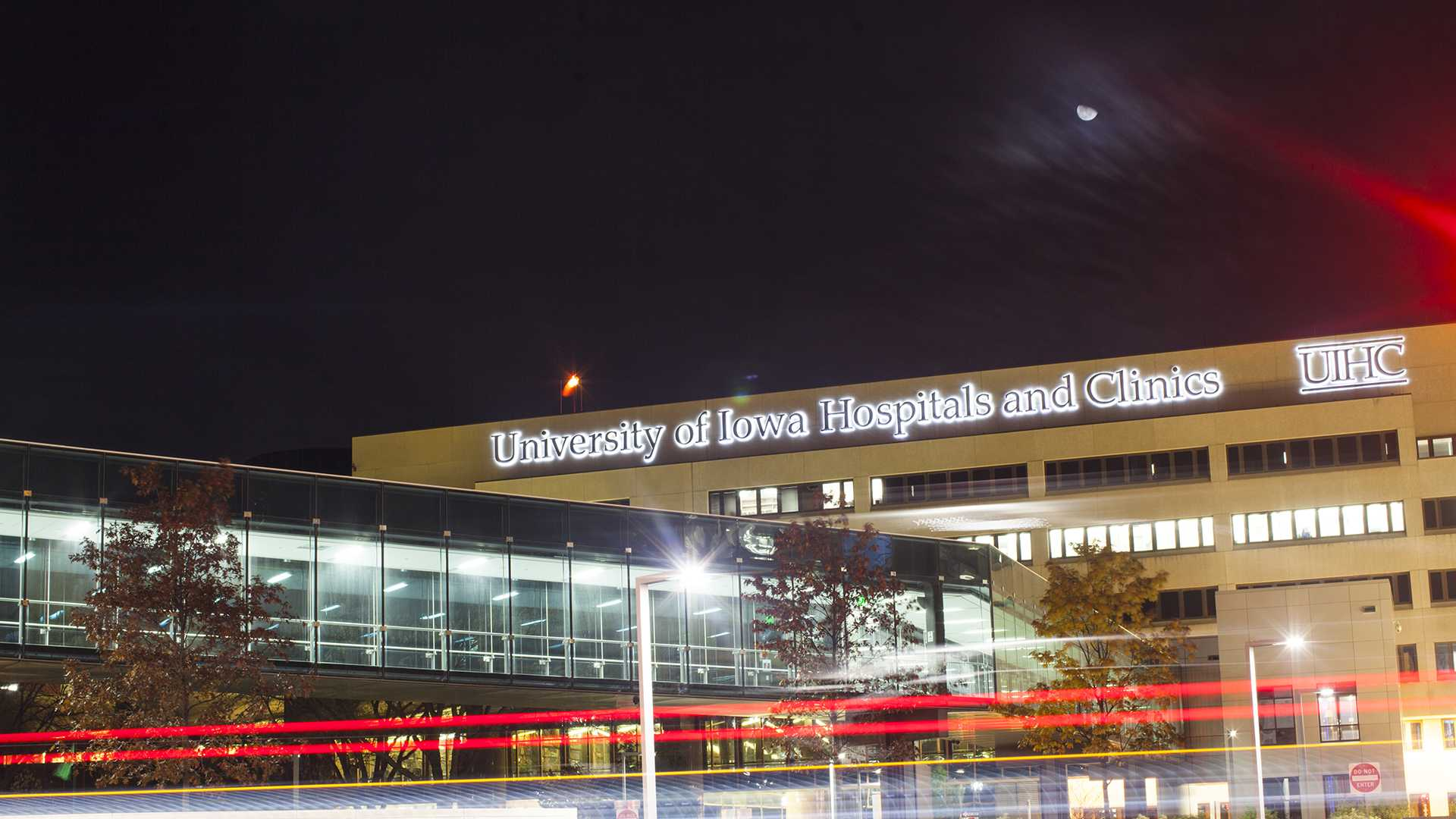 The University of Iowa Hospitals and Clinics building is seen from the west on Wednesday, Nov. 8, 2017. A $1.3 million grant now helps UI practicum students to provide counseling services in rural areas across Iowa for the next four years. (Joseph Cress/The Daily Iowan)