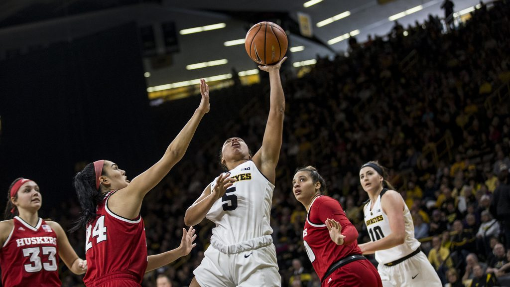 during+the+NCAA+women%27s+basketball+game+at+Carver-Hawkeye+Arena+on+Sunday%2C+Jan.+28%2C+2018.+The+Cornhuskers+defeated+the+Hawkeyes+92-74.+%28Chris+Kalous%2FThe+Daily+Iowan%29