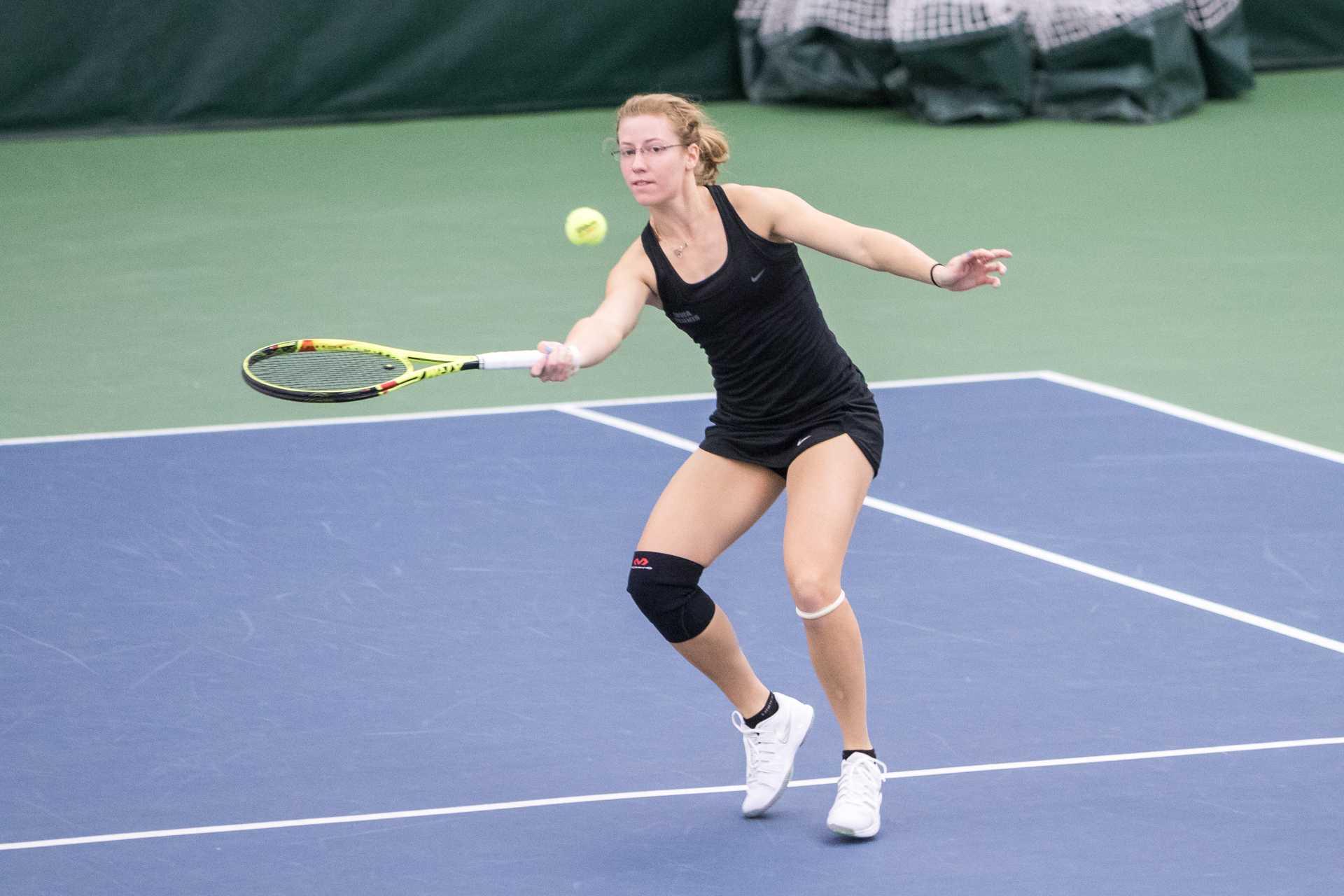 Photo: Iowa women's tennis vs Marquette