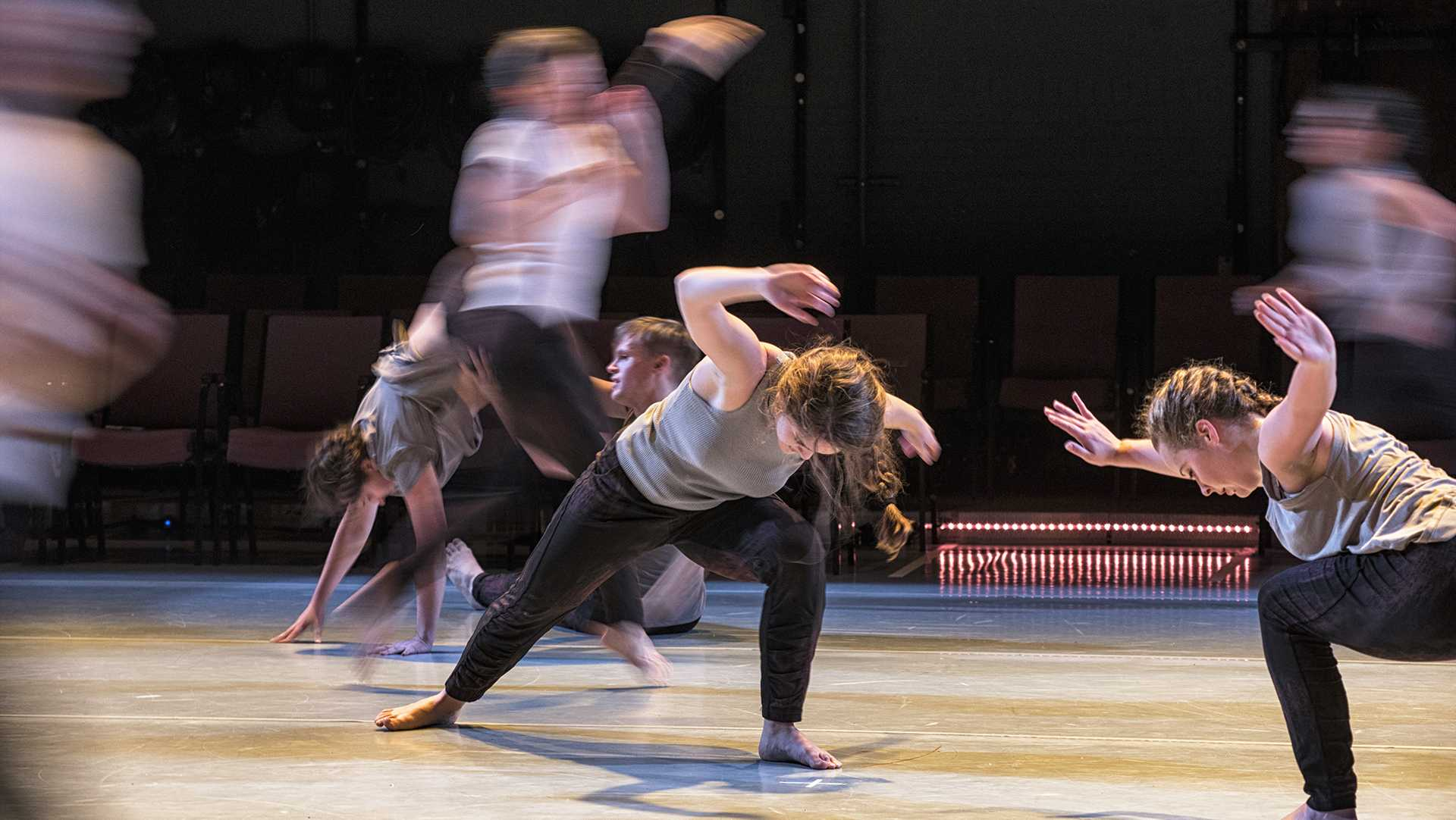 The University of Iowa Dancers in Company put on a performance of Collective Energies at Space Place Theater on Monday, Feb. 19, 2018. (Ben Allan Smith/The Daily Iowan)