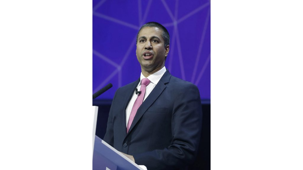 Chairman+of+the+United+States+Federal+Communications+Commission+%28FCC%29%2C+Ajit+Pai%2C+gives+a+speech+during+a+conference+at+the+Mobile+World+Congress+%28MWC%29+held+in+Barcelona%2C+northeastern+Spain%2C+Feb.+28%2C+2017.+%28Andreu+Dalmau%2FEFE%2FZuma+Press%2FTNS%29