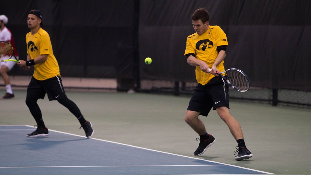 during+a+match+against+Indiana+at+the+HTRC+on+April+13%2C+2018.+The+Hawkeyes+were+defeated+4-3.+%28Megan+Nagorzanski%2FThe+Daily+Iowan%29