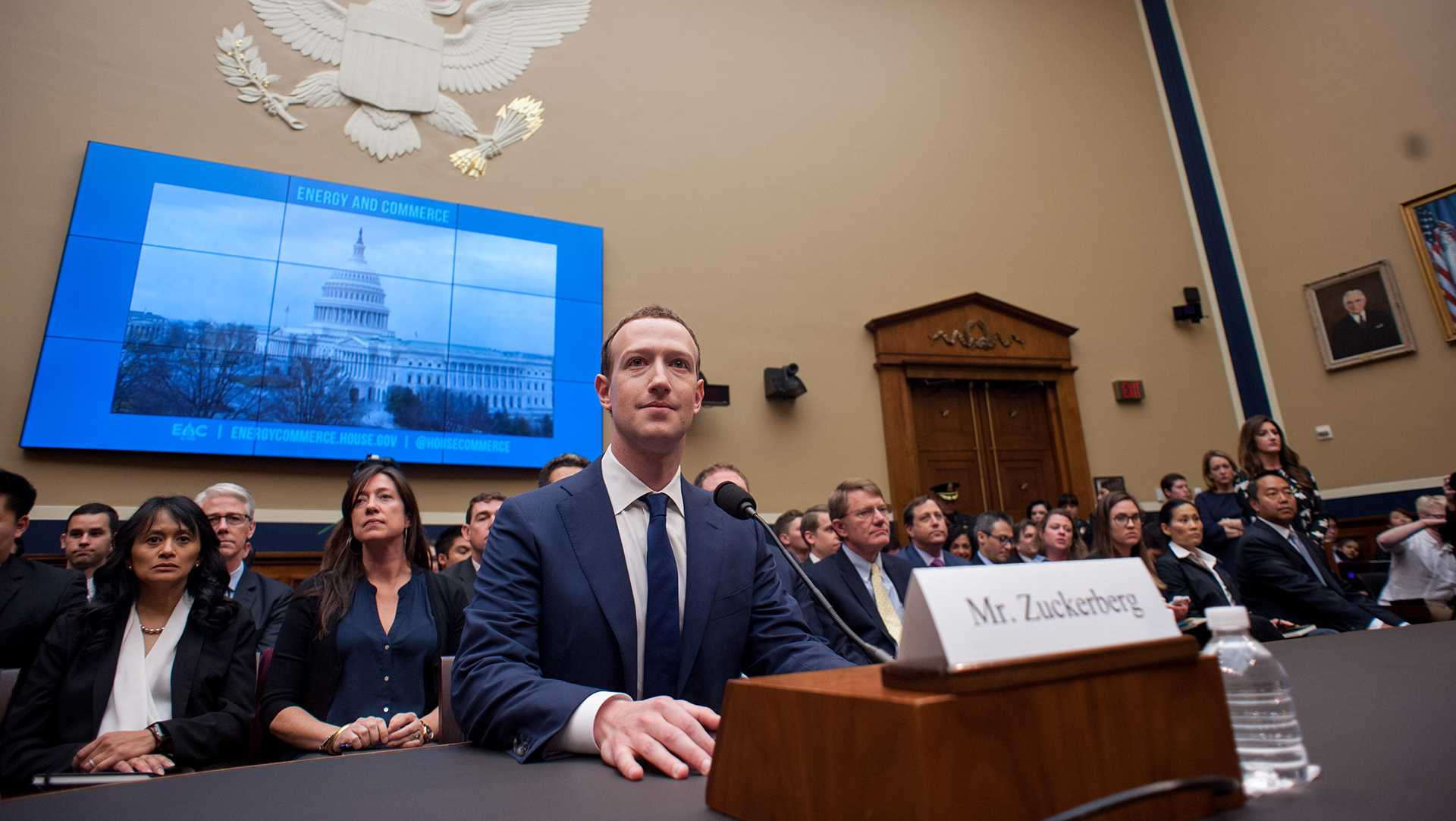 Facebook CEO Mark Zuckerberg appears before the House Energy and Commerce Committee in Washington, D.C., on April 11, 2018. (Erin Scott/Zuma Press/TNS)