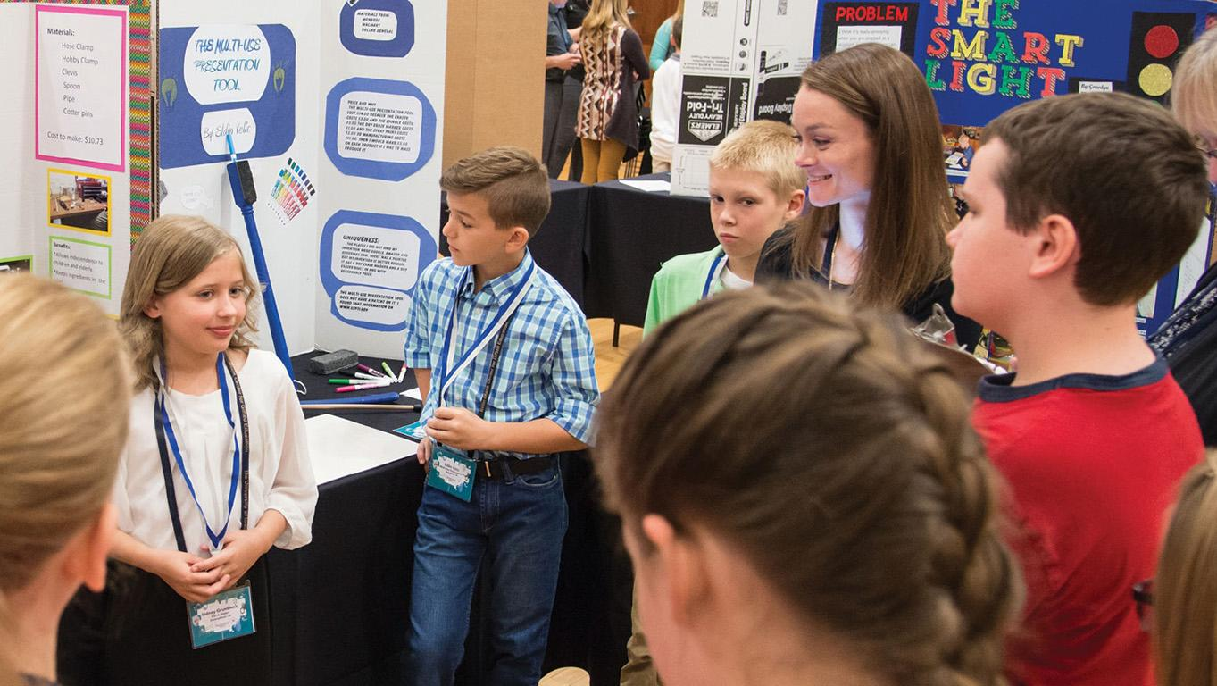 Young inventors show their work at convention