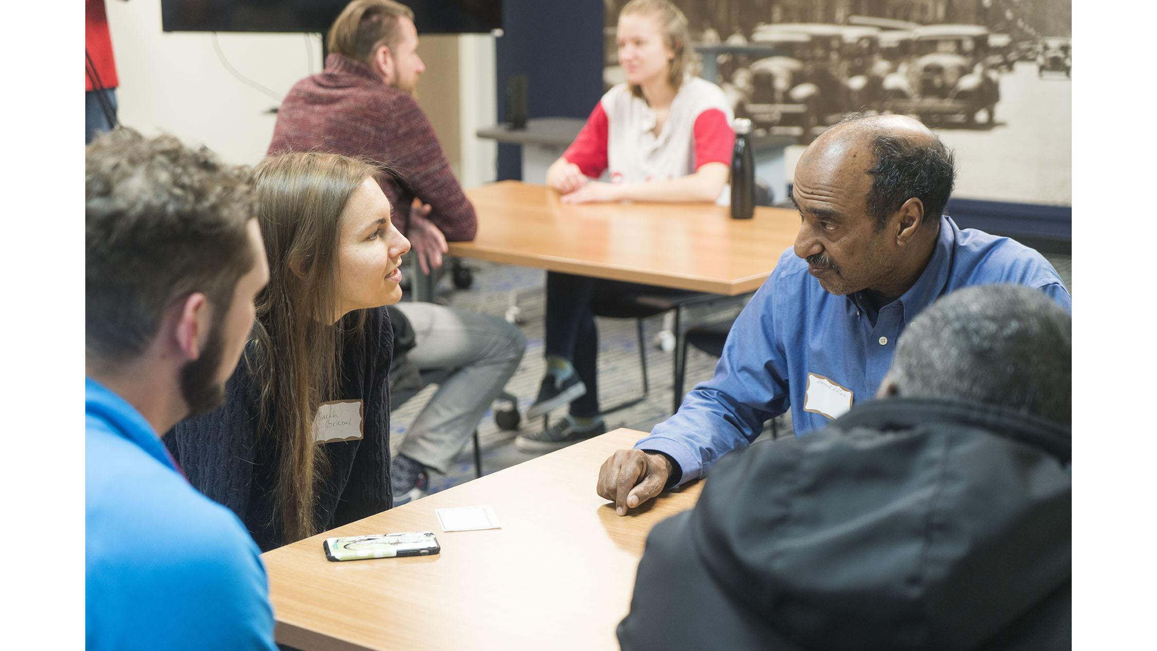 Community Conversations help non-native English speakers learn in relaxed environment
