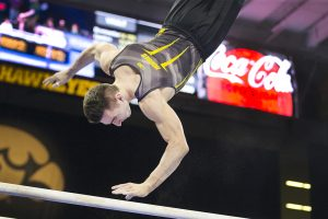 Hawkeye gymnastics fall to Sooners, Huskers