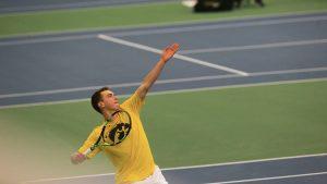 Men's tennis takes final home match