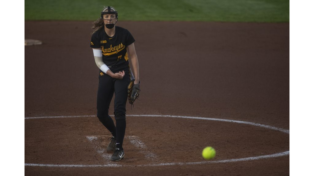 Iowa+starting+pitcher+Alison+Doocy+delivers+a+pitch+during+Iowa%E2%80%99s+Big+Ten+tournament+game+against+Ohio+State+at+the+Goodman+Softball+complex+in+Madison%2C+WI.+The+Hawkeyes+defeated+the+Buckeyes+5-1.+%28Nick+Rohlman%2FThe+Daily+Iowan%29