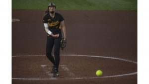 Softball drops pitchers' duel