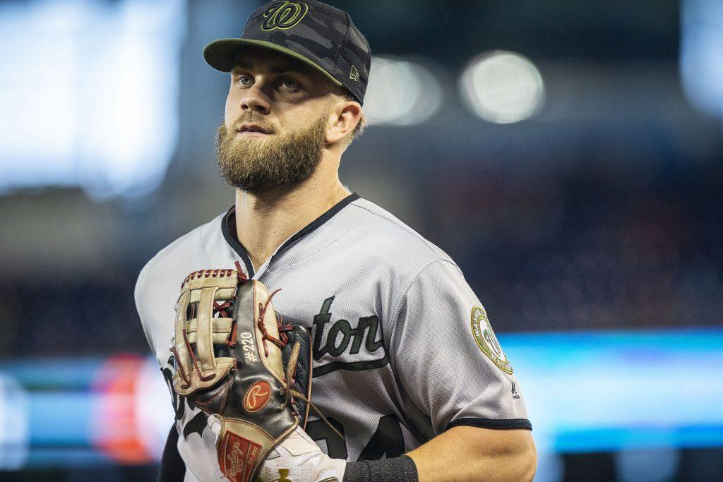 Washington+Nationals+outfielder+Bryce+Harper+%2834%29+during+the+second+inning+against+the+Miami+Marlins+on+Sunday%2C+May+27%2C+2018+at+Marlins+Park+in+Miami%2C+Fla.+Harper+won+the+Home+Run+Derby.+%28Daniel+A.+Varela%2FMiami+Herald%2FTNS%29