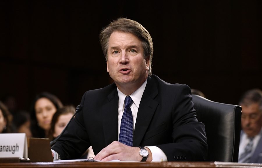 Supreme+Court+nominee+Brett+Kavanaugh+testifies+at+his+confirmation+hearing+in+the+Senate+Judiciary+Committee+on+Capitol+Hill+Sept.+4%2C+2018+in+Washington%2C+D.C.+%28Olivier+Douliery%2FAbaca+Press%2FTNS%29