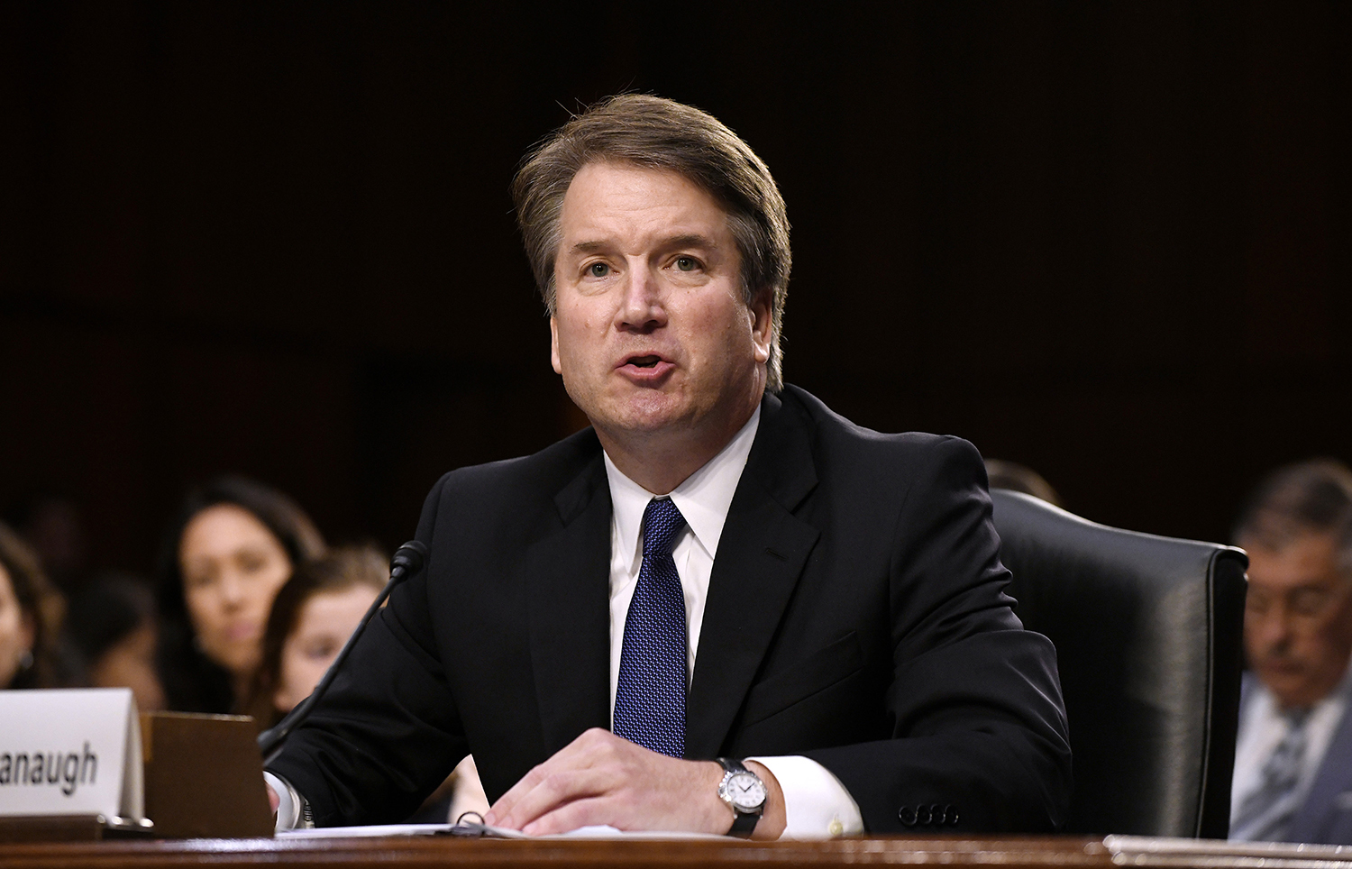 Supreme Court nominee Brett Kavanaugh testifies at his confirmation hearing in the Senate Judiciary Committee on Capitol Hill Sept. 4, 2018 in Washington, D.C. (Olivier Douliery/Abaca Press/TNS)