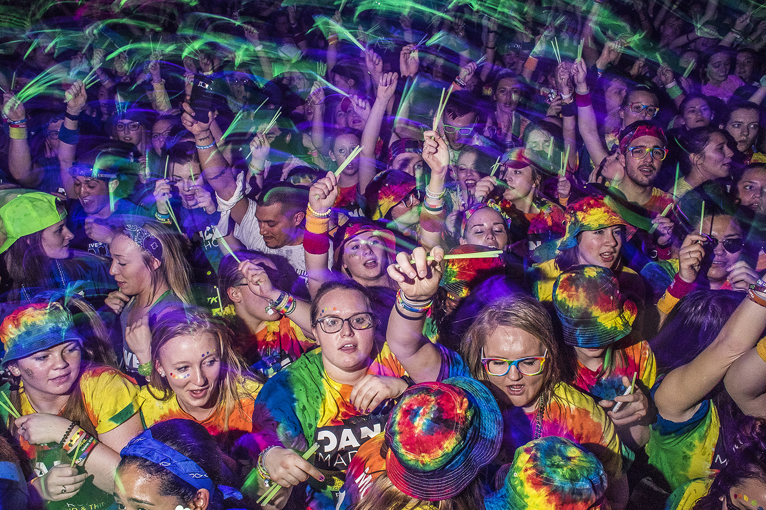 Dancers participate during the Power Hour at Dance Marathon at the IMU on Saturday, Feb. 3, 2018.