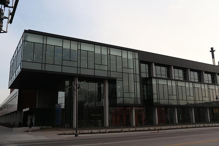 The Campus Recreation and Wellness Center is shown on Sunday, March 22, 2015. The CRWC will be closed from Monday to Sunday due to the men's NCAA Swimming and Diving Championships. (The Daily Iowan; John Theulen)
