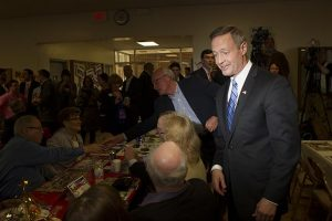Former Governor of Maryland Martin J. O'Malley visited the Iowa Democratic Party Awards Dinner at Des Moines, Iowa, on Friday, April 10, 2015. (The Daily Iowan/Peter Kim)