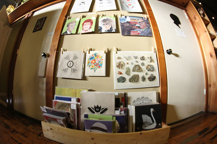 White Rabbit is pictured on Wednesday, Oct. 14, 2015.  White Rabbit opened in 2006 and sticks to locally made products while hosting monthly art shows to showcase Iowa's most talented artists. (The Daily Iowan/McCall Radavich)