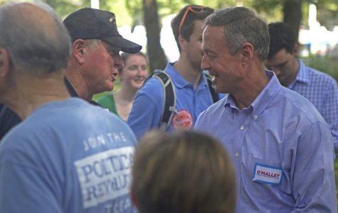 Democratic presidential candidates on the back burner