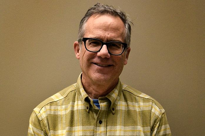 John Thomas hopes to be elected to the Iowa City Council; the election takes place Tuesday, November 3, 2015. (Daily Iowan/Karley Finkel)