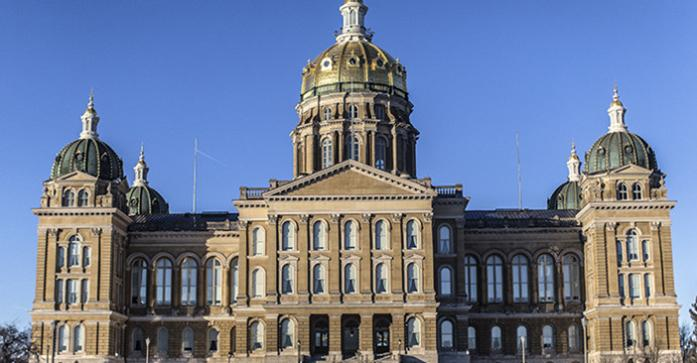 The Iowa State capitol is shown on Tuesday, January 13, 2015.