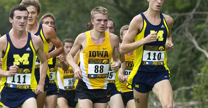 Iowa+runner+Kevin+Lewis+runs+in+the+middle+of+the+pack+during+the+Big+Ten+Preview+Men%27s+8k+Race+at+Ashton+Cross+Country+Course+on+Saturday%2C+Sept.+20%2C+2014.+Lewis+finished+third+overall+and+had+a+time+of+24%3A44.72+on+the+race.+Iowa+Men+finished+second+and+the+Women+finished+fifth+overall.+%28The+Daily+Iowan%2FAlyssa+Hitchcock%29