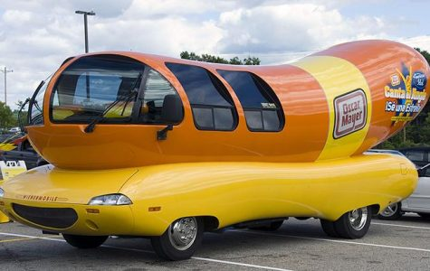 The Oscar Mayer Wienermobile comes to the Public Library