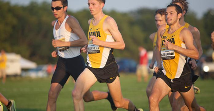 Sophomore+Michael+Melchert+and+Senior+Anthony+Gregorio+of+Iowa+move+to+the+front+of+the+pack+after+the+start+of+their+6k+race+on+Friday%2C+Sep.+4%2C+2015+at+the+Ashton+Cross+Country+Course+in+Iowa+City%2C+Iowa.+%28The+Daily+Iowan%2FBrooklynn+Kascel%29