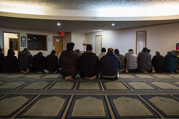 Members of the Muslim community begin to gather for evening prayer at the Iowa City Mosque located at 1812 W Benton St in Iowa City, Iowa on Dec. 15, 2015(The Daily Iowan/Anthony Vazquez)