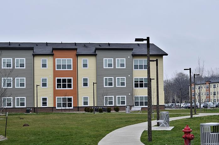 The Aspire at West Campus apartments are located at 190 Hawkeye Court. (Daily Iowan/Karley Finkel)