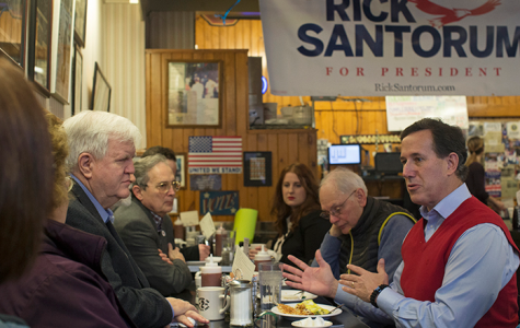 Santorum hits Burg Inn