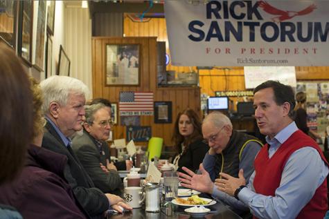 Santorum hits Burg Inn