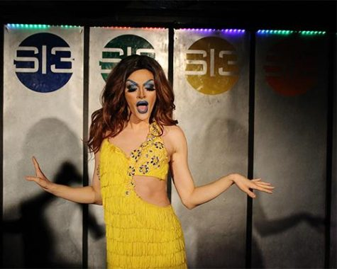 Miss Diane Skeaton participates in his first drag show at Studio 13's amateur night on Wednesday. Studio 13 does a series called Drag U, during which it partners with those who have never done drag. (The Daily Iowan/McCall Radavich)