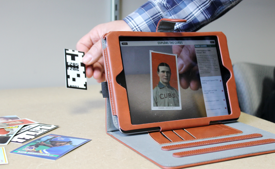 Augmenting reality with baseball cards