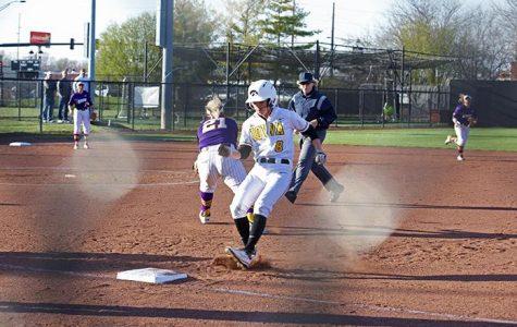 Softball holds on to nail UNI
