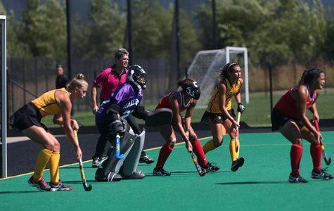 Field hockey splits tough matches