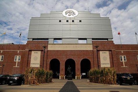 University of Iowa's Kinnick Stadium on Stadium Drive on Wednesday, Oct. 19, 2016. The University of Iowa is considering spending $100,000 to renovate a portion of the stadium. (The Daily Iowan/Anthony Vazquez)