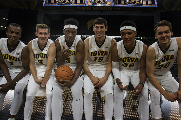 Iowa%27s+Maishe+Dailey%2C+Jordan+Bohannon%2C+Tyler+Cook%2C+Ryan+Kriener%2C+Cordell+Pemsl%2C+and+Riley+Till+pose+for+a+photo+during+men%27s+basketball+media+day+in+Carver-Hawkeye+Arena+on+Wednesday%2C+October+5%2C+2016.+The+Hawkeyes+will+play+their+first+regular+season+game+on+Friday%2C+November+11%2C+at+Carver-Hawkeye+Arena+at+8%3A30+p.m.+against+Kennesaw+State.+%28The+Daily+Iowan%2FJoseph+Cress%29