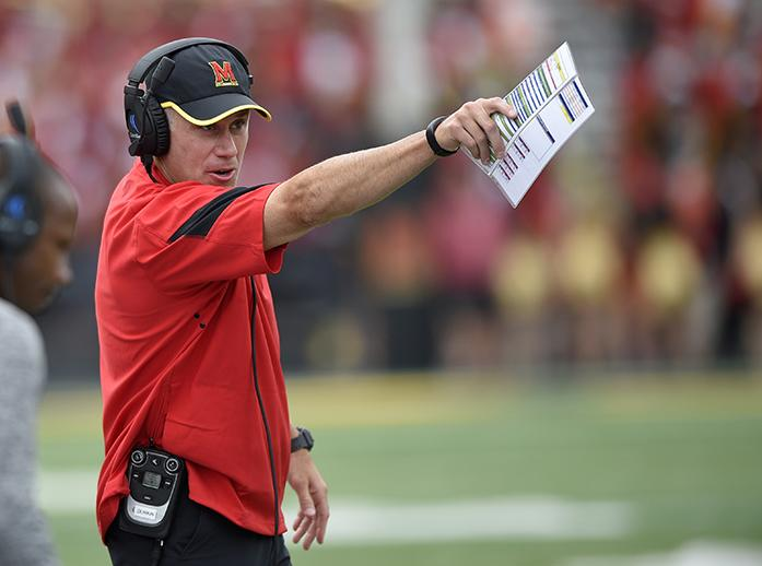 FILE+-+In+this+Sept.+3%2C+2016%2C+file+photo%2C+Maryland+head+coach+DJ+Durkin+gestures+during+the+second+half+of+an+NCAA+football+game+against+Howard+in+College+Park%2C+Md.+Though+first-year+coach+DJ+Durkin+is+known+for+his+defensive+prowess%2C+Maryland+is+unbeaten+because+of+an+attack+that+has+rung+up+123+points%2C+second-most+in+school+history+after+three+games.+%28AP+Photo%2FNick+Wass%2C+File%29